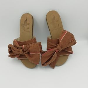 Brother Vellies Burkina Slide Sandals W/ Bow
